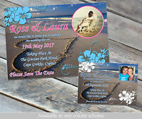 10 Personalised Wedding Invites Save Date Cards Beach Abroad Holiday Evening Day
