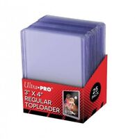"Ultra Pro pack de 25 Top Loader Regular 3""x4"" protège cartes Ultra Clear 812225"