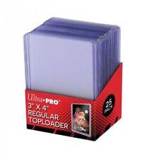 "Ultra Pro pack de 25 Top Loader Regular 3""x4"" protège cartes Ultra Clear 812225"