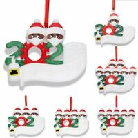 Add Name 2020 Christmas Personalized Ornament Xmas Tree Hanging Ornaments Family