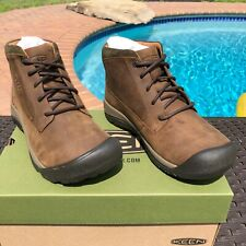KEEN Austin Casual Waterproof Boot Sizes 8 to 13 in Chocolate Brown Black Olive