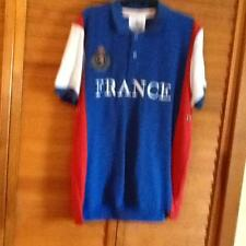 France World Soccer Cup cotton blend blue Polo Shirt  Large