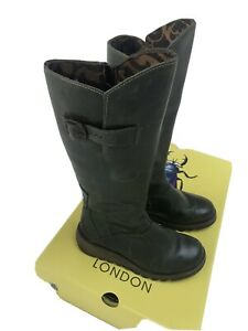 Fly London Mol 2 Boots - Size 4/37 Petrol Green