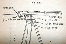 1939 Israel Hebreo armas de fuego manuales fusil Lee-Enfield Bren & Lewis Submachine Gun