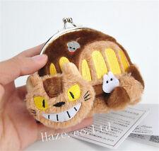 1pc My Neighbor Totoro Cat Bus wallet Women Plush Change Coin Purse Bag Gifts