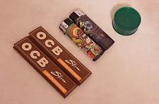 Pack fumeur / Smoking pack OCB virgin slim + grinder + briquets