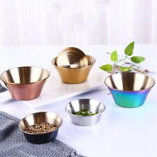 Stainless Bowl Sauce Dish Dessert Dish Kitchen Sauce Dish Dip Tray Tableware SH