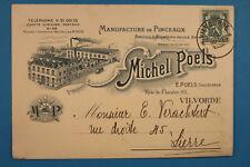 Belgien AK Vilvorde 1936 Manufacture de Pinceaux Michel Poels Usine Fabirk . BE5