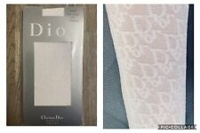 Dior Galliano Oblique Trotter Logo Monogram Print Knee High Sock Pantyhose Tight