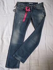 FORNARINA Damen Blue Jeans W28/L34 slim fit extra low waist straight leg women