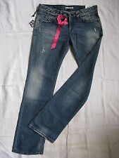 Fornarina Femmes Blue Jeans w28/l34 Slim Fit Extra low waist straight leg Women