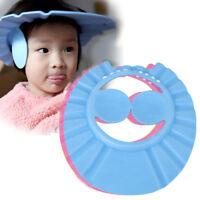 Cute Adjustable Baby Kids Shampoo Bath Bathing Shower Cap Hat Wash Hair Shield