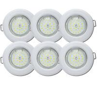 230V LED Möbel Decken Downlights Einbaustrahler Spots IP44 Flip 6W Kunststoff