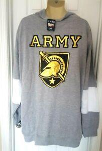 Army Black Knights Jacket Size 3XL Pullover Sweatshirt Reflective Logos New