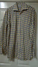 THE OXFORD SHIRT CO. CLASSIC ELEGANT COMBED COTTON CHECK L/SLEEVED SHIRT UK 15.5