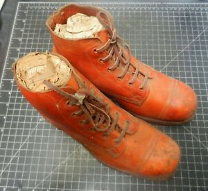WW 2  Army AB boots brown Jungle cleat pattern. Australian issue.