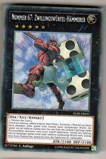 Yu-GI-OH Nummer 67 Zwillingswürfel Hämmerer Secret Rare BLRR-DE031 NEU!