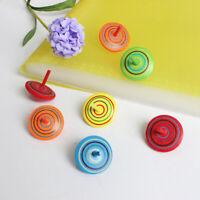 Niños juguetes de madera giroscopios para alivio de estrés escritorio peonzables