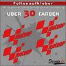 4er SET - MOTOGP Sponsoren-Folienaufkleber - Auto/Motorrad - 30 Farben - 8cm