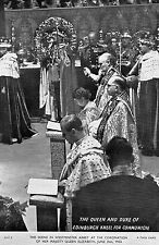 postcard H.M.Queen Elizabeth ll   &  Duke of Edinburgh  at communion CHT8 Tuck's