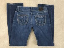 BKE Sabrina Boot Cut Jeans Womens Low Rise Thick Stitching Tag 27R Actual 30x30