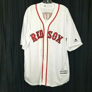 Majestic Boston Redsox jersey Ortiz 34 mens sz XXL baseball white red button up
