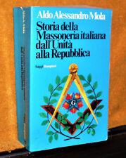 MOLA STORIA DELLA MASSONERIA DALL'UNITA' ALLA REPUBBLICA BOMPIANI 1976 822 PAG.