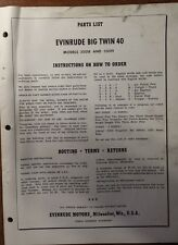 1960 EVINRUDE 18 HP FASTWIN  PARTS CATALOG # 2998 9/59/7M