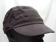 GRAY - CADET STYLE - ADJUSTABLE ELASTIC FIT BALL CAP HAT!