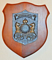 Large USS Conquest shield plaque crest United States Navy USN ship MCO 488