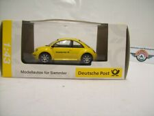 """VW New Beetle """"Deutsche Post"""" 2000, yellow, Schuco 1:43, OVP"""