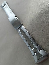 New Mens Timex Gun Metal Round Ends 22mm Push Button Clasp Watch Band
