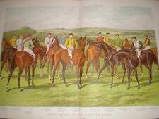 Horse Racing Derby Heroes of the last Ten Years John Sturgess 1889 colour print