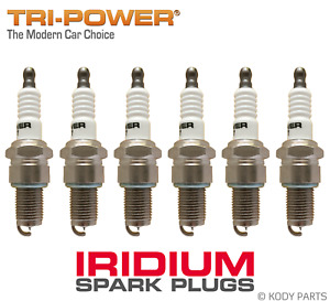 IRIDIUM SPARK PLUGS - for Toyota Cressida 2.8L 6 Cyl MX62, MX73 (5ME) TRI-POWER