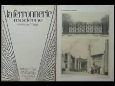 H. CLOUZOT, LA FERRONNERIE MODERNE, 1925 EXPOSITION ART DECORATIFS PARIS, Prouvé