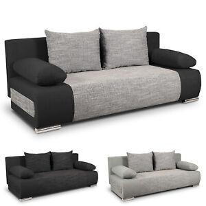 Sofa Mit Schlaffunktion Und Bettkasten Gunstig Kaufen Ebay