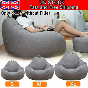 Large Bean Bag Cover Chair Sofa Couch Adults Kids Indoor Lazy Lounger No filling