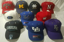 NCAA College Football Caps Lot of 10 Different Team Hats ND, OS, Michigan, More
