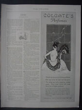 1922 Colgate's Perfume Lady at Window Vintage Print Ad 12091