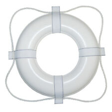"""TAYLOR MADE 24"""" WHITE W/WHITE ROPE FOAM RING BUOY"""