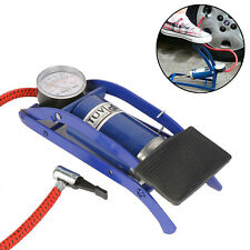 Single Barrel Cylinder Air Compress Inflator Foot Pump Van Bicycle Bike Tyre Uk