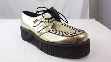 TUK MIE ENGLAND MADE 'SQUIGGY' GOLD LEATHER CREEPER SOLE 10 WOMEN 8 M MENS