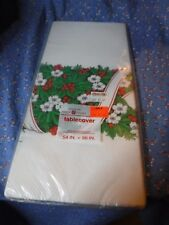 Nos Vintage American Greetings Tablecover 54 x 96 Inches Christmas Motif