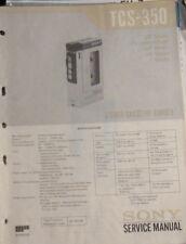 Sony TCS-350 portable recorder service repair workshop manual (original copy)