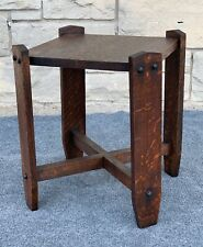 Arts & Crafts Mission Style Quartersawn Oak R. T. Crane End Table Stool