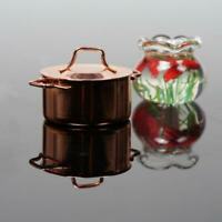 1:12 Copper Cooking Pan Pot Doll House Miniature Kitchen Cookware