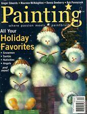 Painting Magazine December 2005 Snowmen, Santas, Nativities, Angels and More!