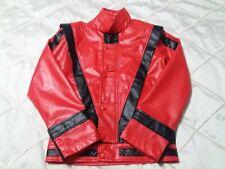Unisex Men Women Michael Jackson Thriller Faux Leather Jacket Coat Costume Xs