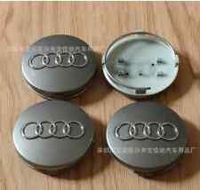 4pcs 60mm Silver WHEEL CENTER HUB CAP RIM CAPS for AUDI A3 A4 A6 A8