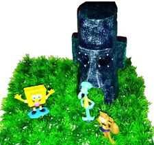 NEU! Thaddäus Haus Spongebob Aquarium Dekoration Deko  Figuren Sandy Geschenk